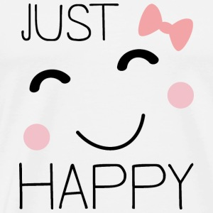 Just happy smiley Bags & Backpacks - Men's Premium T-Shirt