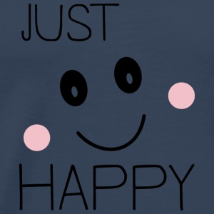 Just happy smiley Long Sleeve Shirts - Men's Premium T-Shirt