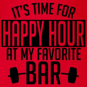 it's time for happy hour at my favorite bar A 1c T-Shirts - Baby Bio-Kurzarm-Body