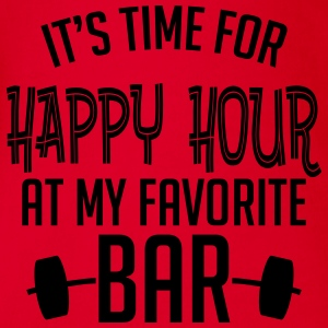 it's time for happy hour at my favorite bar B 1c Shirts - Organic Short-sleeved Baby Bodysuit