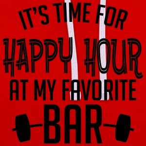 it's time for happy hour at my favorite bar B 1c Camisetas - Sudadera con capucha en contraste