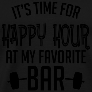 it's time for happy hour at my favorite bar B 1c Sports wear - Men's Premium T-Shirt