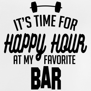 it's time for happy hour at my favorite bar C 1c Camisetas - Camiseta bebé