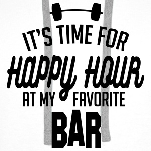 it's time for happy hour at my favorite bar C 1c Tops - Männer Premium Hoodie