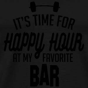 it's time for happy hour at my favorite bar C 1c Sports wear - Men's Premium T-Shirt