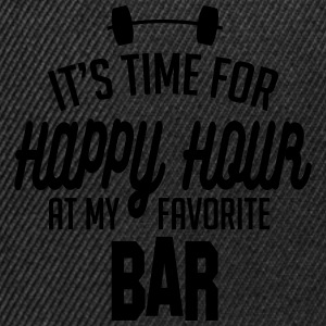 it's time for happy hour at my favorite bar C 1c Hoodies & Sweatshirts - Snapback Cap