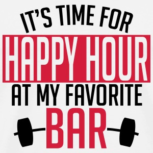 it's time for happy hour at my favorite bar A 2c Sportsbeklædning - Herre premium T-shirt