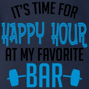 it's time for happy hour at my favorite bar B 2c T-Shirts - Baby Bio-Kurzarm-Body