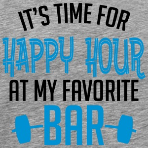 it's time for happy hour at my favorite bar B 2c Langærmede T-shirts - Herre premium T-shirt