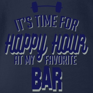 it's time for happy hour at my favorite bar C 2c Shirts - Baby bio-rompertje met korte mouwen