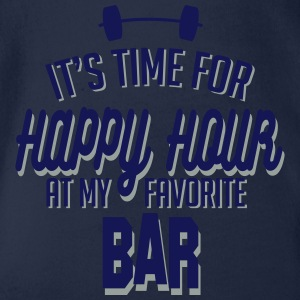 it's time for happy hour at my favorite bar C 2c T-shirts - Ekologisk kortärmad babybody