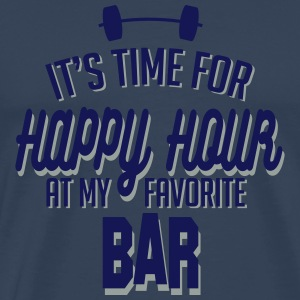 it's time for happy hour at my favorite bar C 2c Long sleeve shirts - Men's Premium T-Shirt