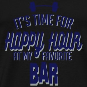it's time for happy hour at my favorite bar C 2c Sports wear - Men's Premium T-Shirt
