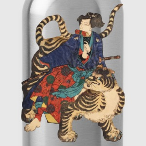 Samurai on Tiger T-shirts - Drinkfles
