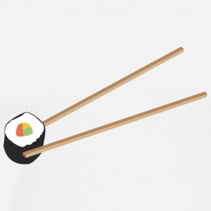 Sushi Roll with chopsticks Tops - Men's Premium T-Shirt