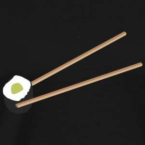 Sushi Roll with chopsticks Hoodies & Sweatshirts - Men's Premium T-Shirt