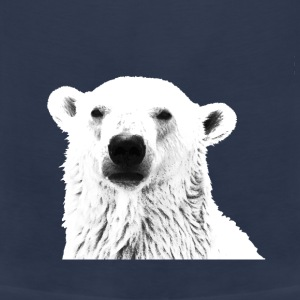Polar Bear Peeking - Men's Premium Tank Top