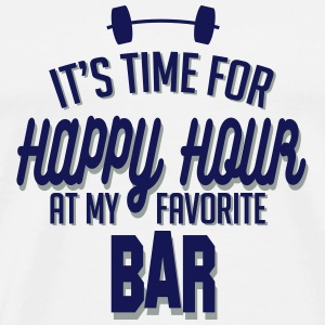it's time for happy hour at my favorite bar C 2c Krus & tilbehør - Herre premium T-shirt