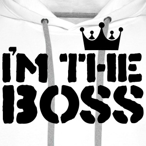 im the boss T-Shirts - Men's Premium Hoodie