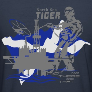 Oil Rig Oil Field North Sea Aberdeen Scotland - Men's Slim Fit T-Shirt