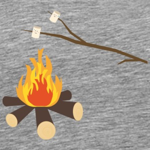 Campfire with marshmallows Hoodies & Sweatshirts - Men's Premium T-Shirt
