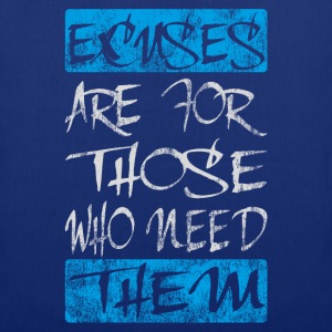 excuses white blue T-Shirts - Tote Bag