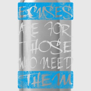 excuses white blue T-Shirts - Water Bottle