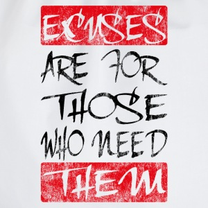 excuses black red T-Shirts - Drawstring Bag