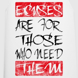 excuses black red T-Shirts - Cooking Apron