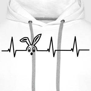 Heartbeat of a hare T-Shirts - Men's Premium Hoodie