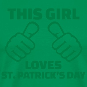 This girl loves St. Patrick's day Schürzen - Männer Premium T-Shirt