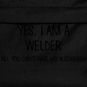 welder yes no cant have autograph t-shirt - Kids' Backpack