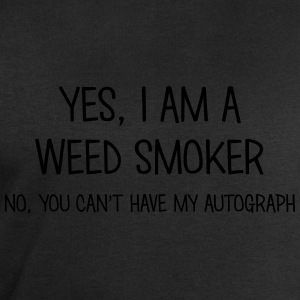 weed smoker yes no cant have autograph t-shirt - Men's Sweatshirt by Stanley & Stella