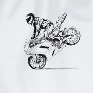 motorcycle stunt T-Shirts - Turnbeutel