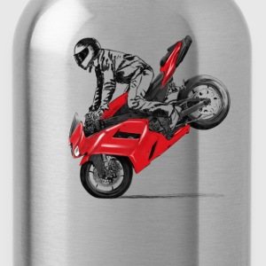 motorcycle stunt T-Shirts - Trinkflasche