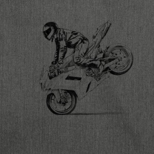 motorcycle stunt T-Shirts - Schultertasche aus Recycling-Material