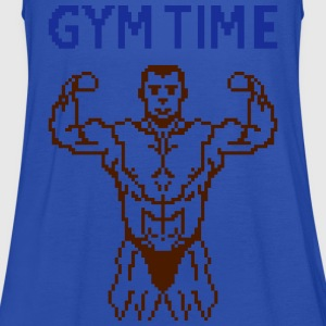 gym time pixelart T-Shirts - Women's Tank Top by Bella