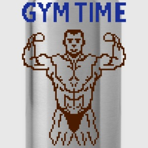 gym time pixelart T-Shirts - Water Bottle