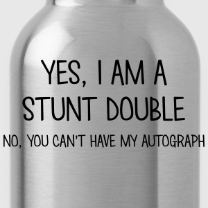 stunt double yes no cant have autograph t-shirt - Water Bottle