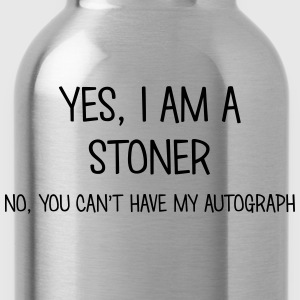 stoner yes no cant have autograph t-shirt - Water Bottle