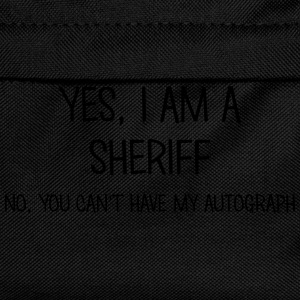sheriff yes no cant have autograph t-shirt - Kids' Backpack