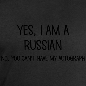 russian yes no cant have autograph t-shirt - Men's Sweatshirt by Stanley & Stella