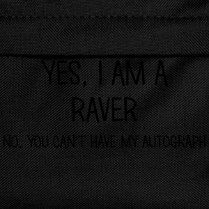 raver yes no cant have autograph t-shirt - Kids' Backpack
