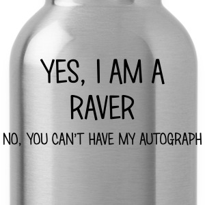 raver yes no cant have autograph t-shirt - Water Bottle