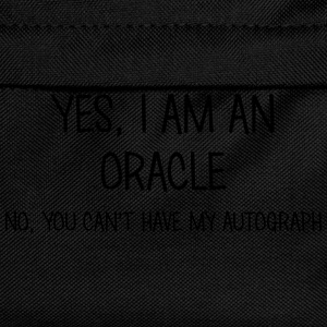 oracle yes no cant have autograph t-shirt - Kids' Backpack