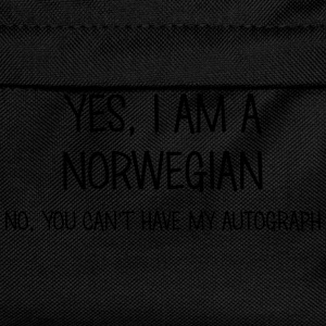 norwegian yes no cant have autograph t-shirt - Kids' Backpack