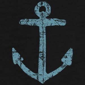Anchor Vintage (Blue) Sailing Design for Sailors Tassen & rugzakken - Mannen Premium T-shirt