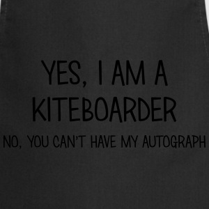 kiteboarder yes no cant have autograph t-shirt - Cooking Apron