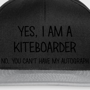 kiteboarder yes no cant have autograph t-shirt - Casquette snapback