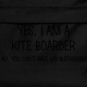 kite boarder yes no cant have autograph t-shirt - Kids' Backpack